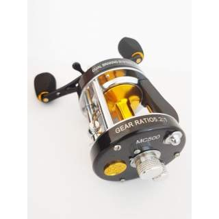 MC500 Baitcast Magnetic reel - Black and Gold