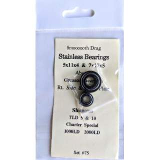 Charter Special and TLD5 Right Side and Drag Plate Bearings Set