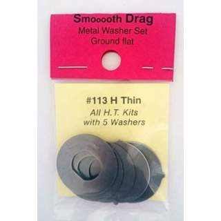 Penn Senator 113H Thin Smooth Drag Ground Metal Washers  (Gr6)